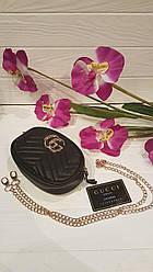 Модная сумка-ремень на пояс или через плечо Gucci  (черный цвет)