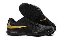 Футбольные сороконожки Nike Hypervenom PhantomX III PRO TF Black/Gold, фото 1
