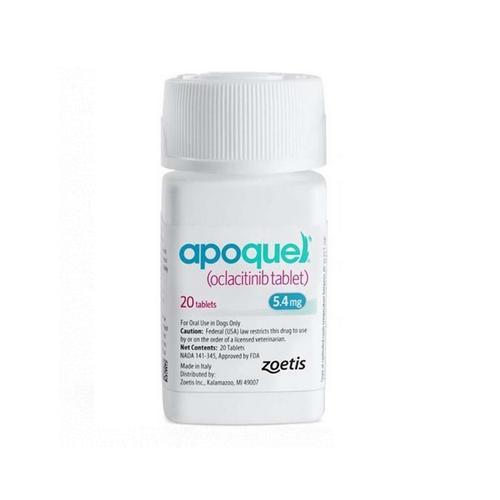 Апоквель 5,4 мг 20 таблеток. Препарат против аллергии для собак (вес 8 - 12 кг) (Apoquel, США, 10015832)