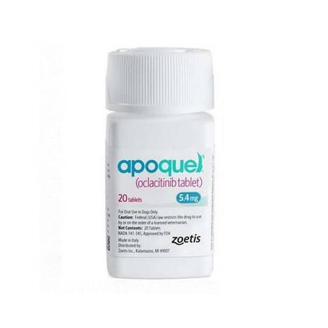 Апоквель 5,4 мг 20 таблеток. Препарат против аллергии для собак (вес 8 - 12 кг) (Apoquel, США, 10015832), фото 2