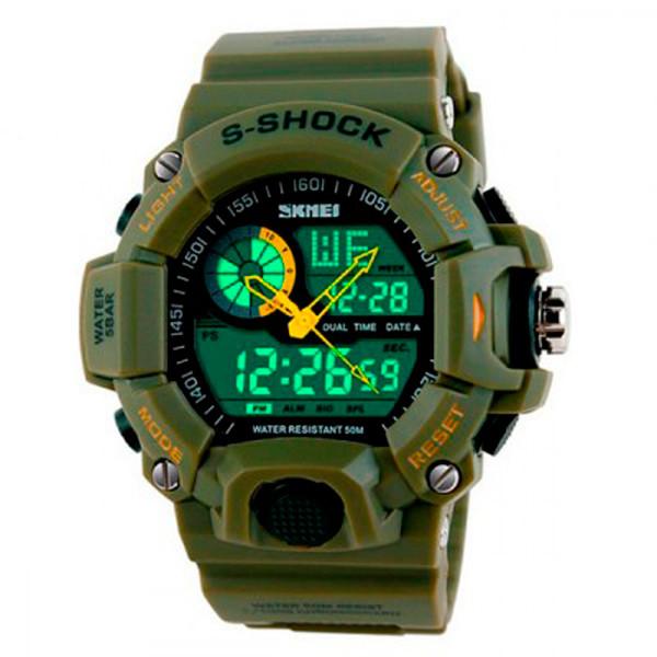 Мужские часы Skmei 1283 Темно-зеленые