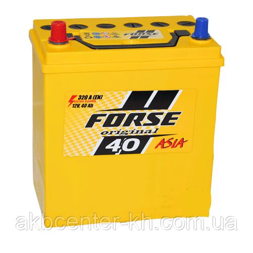 Автомобильные аккумуляторы FORSE JP 6CT-40A2 320A L MF (NS40) тонкая