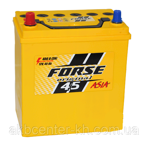 Автомобильные аккумуляторы FORSE JP 6CT-45A2 400A L MF (NS40) тонкая
