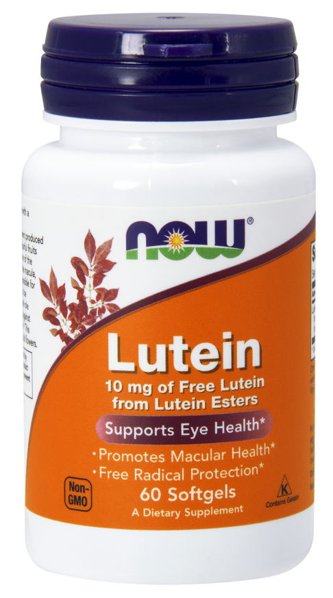 Now Lutein 10mg 60 softgels