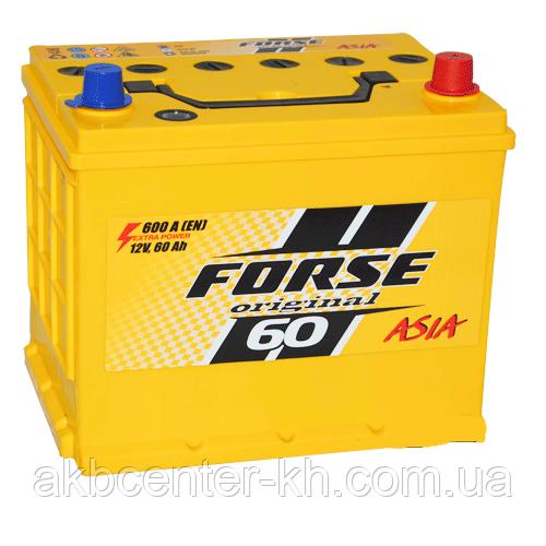 Автомобильные аккумуляторы FORSE JP 6CT-60A2 600A R MF (D23) нижнее крепление