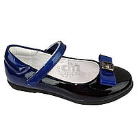 Туфли школьные лакированные Garstuk A639-T1698, В наличии, Синий, 29