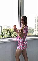 Женская пижама с шортами из хлопка Код п112