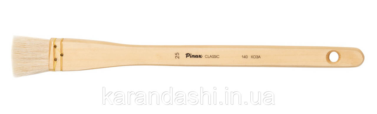 Кисть Pinax Classic КОЗА № 25 Флейц типа Hake сер 140, фото 2