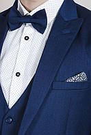 Мужской синий костюм-тройка, фото 1