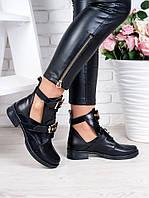Ботинки BALENCIAGA черная кожа 6321-28, фото 1
