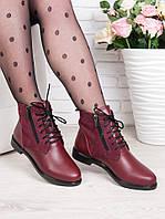Ботинки Classic марсала замша + кожа 6361-28, фото 1