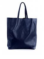 Синяя кожаная сумка 6541-11