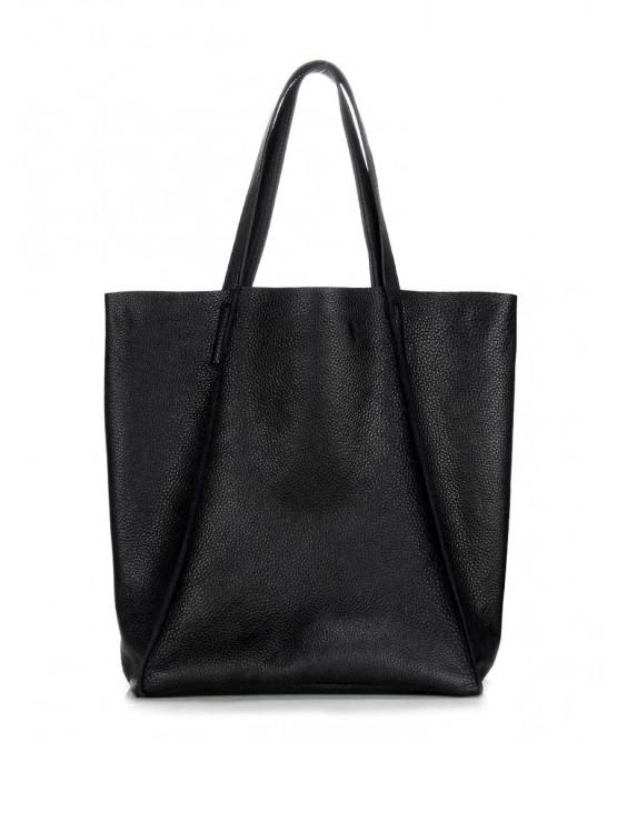 Кожаная черная сумка 6555-11