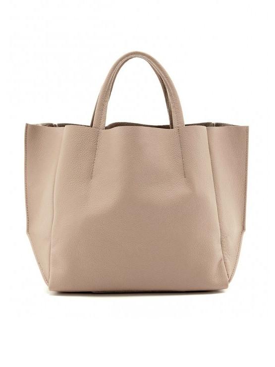 Бежевая сумка натуральная кожа 6586-11