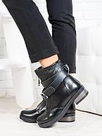 Ботинки Patrick черная кожа 6703-28, фото 1