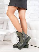 Ботинки  Angelina оливка кожа 6720-28, фото 1