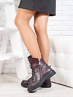 Ботинки  Angelina бордо кожа 6721-28, фото 1