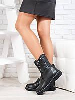 Ботинки  Kamila черная кожа 6722-28, фото 1