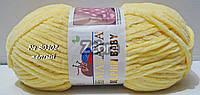 Нитки пряжа для вязания велюровая плюшевая DOLPHIN BABY Долфин Беби № 80302 - желтый