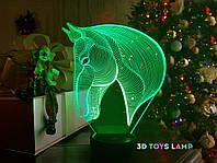 "3d светильник ""Лошадка 3"" 3DTOYSLAMP, фото 1"