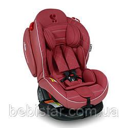 Автокресло розовое Lorelli ARTHUR ISOFIX 0-25 KG ROSE LEATHER для детей с рождения до 7-ми лет