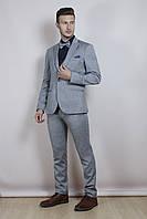 Мужской костюм серый, фото 1