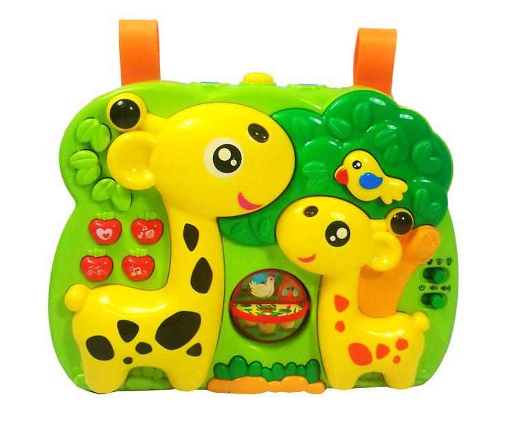 """Проектор 2 в1 """"Музыкальный жираф"""" (36/2) музыкальный, светится, в коробке"""