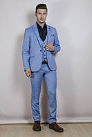 Мужской костюм голубой, фото 1
