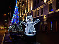 "3d светильник ""Снеговик"" 3DTOYSLAMP, фото 1"