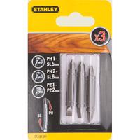 Биты двустор. Stanley Ph1-SL5,Ph2-SL6,Pz1-Pz2, 48мм, 3шт.