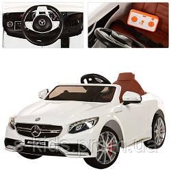Детский электромобиль Mercedes AMG M 2797 EBLR-1 кожаносе сиденье - мягкие колеса