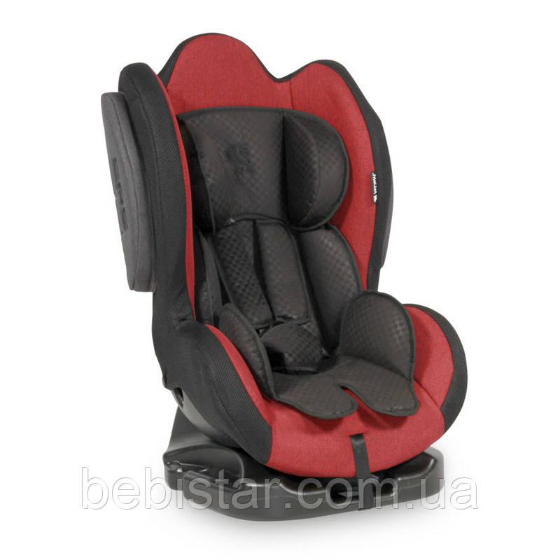 Автокресло красно-серое SIGMA 0-25 KG RED&BLACK для детей от рождения до 7 лет