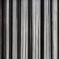 Шторы нити Радуга белая, серая, черная №31