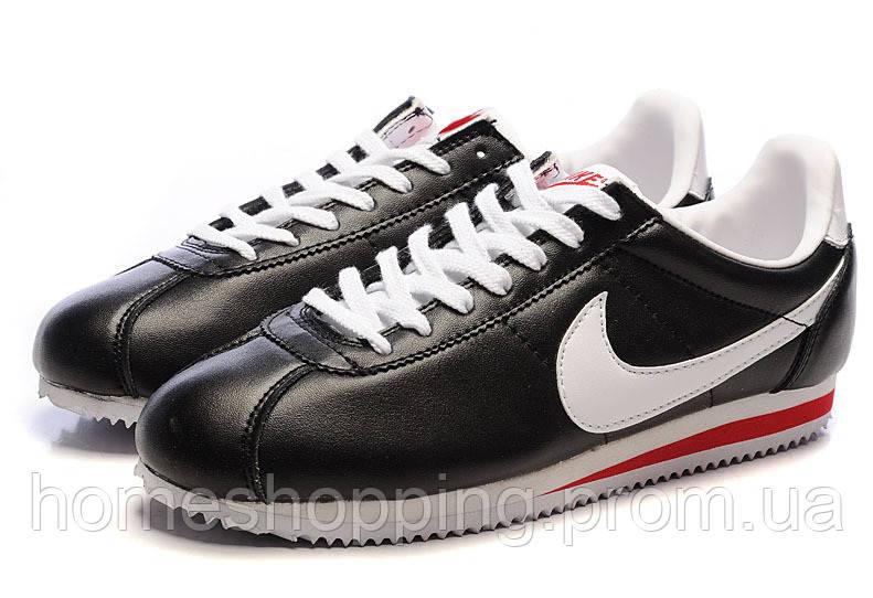 Мужские кроссовки Nike Cortez Classic Leather черные