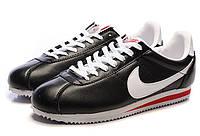 Мужские кроссовки Nike Cortez Classic Leather черные, фото 1