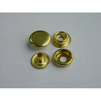 Кнопка №61 - 15 мм золото