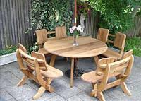 Деревянный стол с сиденьями, фото 1