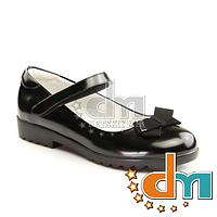 Туфли школьные лакированные Garstuk C166-C519, В наличии, Черный, 33