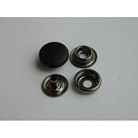 Кнопка №61 с пластиковой шляпкой 15 мм - белая, черная