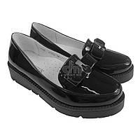 Туфли школьные лакированные Garstuk L518-F1802, В наличии, Черный, 33