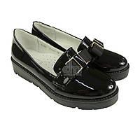 Туфли школьные лакированные Garstuk L518-F1860, В наличии, Черный, 33