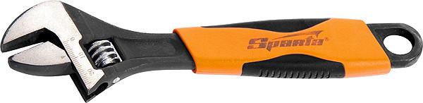 Ключ розвідний, 250 мм, двокомпонентна рукоятка// SPARTA
