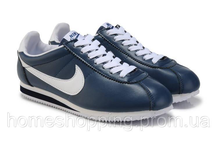 Мужские кроссовки Nike Cortez Classic Leather синие