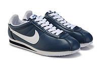 Мужские кроссовки Nike Cortez Classic Leather синие, фото 1