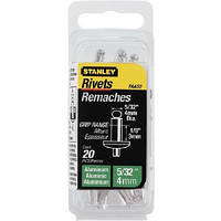Заклёпки Stanley алюминиевые d4х3 мм, 20 шт.