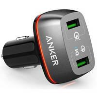 Автомобильное зарядное устройство Anker PowerDrive+ 2 With Quick Charge 3.0 V3 Black