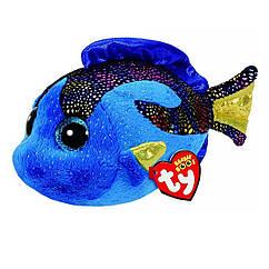 Мягкая игрушка Синяя рыбка Аква 19 см. Оригинал TY 37243