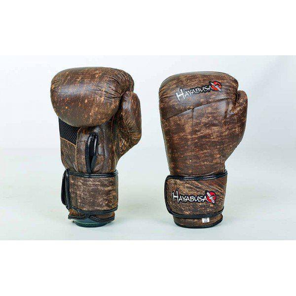 Перчатки боксерские (для бокса) кожаные на липучке 10-12oz HAYABUSA KANPEKI (VL-5779) - optom24.com.ua - оптовый интернет магазин в Одессе