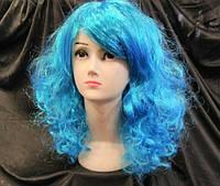 Карнавальный парик Мальвины голубой 55 см, фото 1