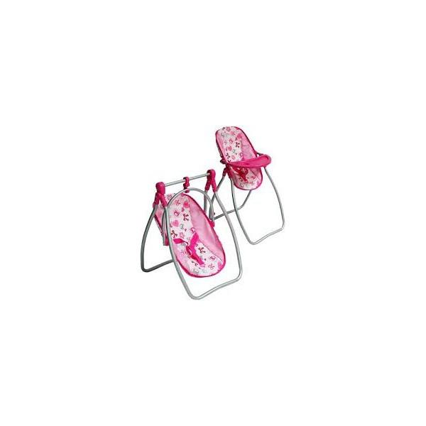 Стульчик для кормления, качели, люлька переноска 3 в 1 MELOGO 9397C